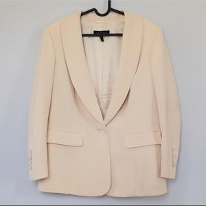 Escada cream wool single button blazer German made